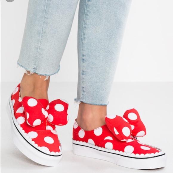 vans x disney authentic gore red spot trainers